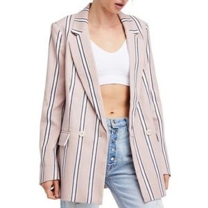 Free People Striped Blazer